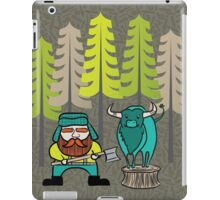 Lumberjack Attack: Paul and Babe iPad Case/Skin