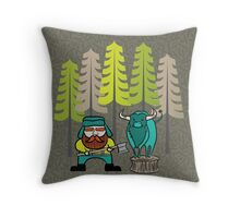 Lumberjack Attack: Paul and Babe Throw Pillow