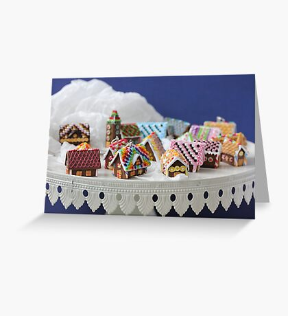 Who Needs a Cake When You Can Get Tiny Houses? Greeting Card