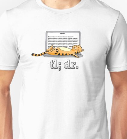Too long; didn't read (Beige) Unisex T-Shirt
