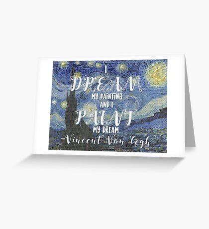 Van Gogh Quote Greeting Card