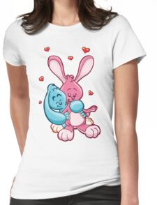 HeinyR- Bunny Love Womens Fitted T-Shirt
