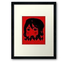 Mugi Revolution (Black Stencil) Framed Print