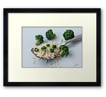 Broccoli and Rice Framed Print
