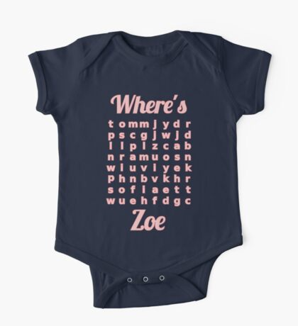 Baby Zoe learns word puzzle One Piece - Short Sleeve