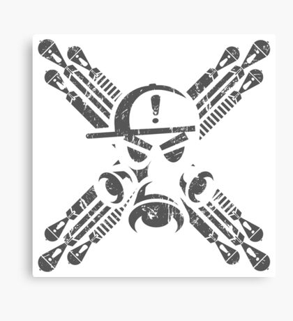 Gas Mask Jolly Roger Canvas Print