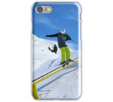 Skiing rail  iPhone Case/Skin