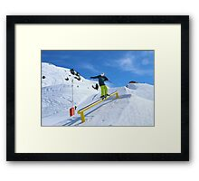 Skiing rail  Framed Print