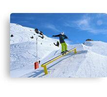 Skiing rail  Canvas Print