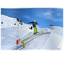 Skiing rail  Poster