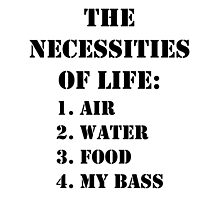 The Necessities Of Life: My Bass - Black Text by cmmei