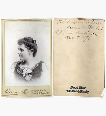 DEC. 8, 1893, SALLIE C. WATSON, CLINTON, KENTUCKY Poster