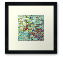 sun glass Framed Print