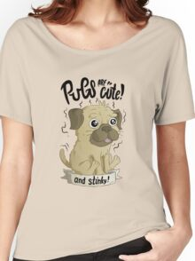 Pugs are cute Women's Relaxed Fit T-Shirt