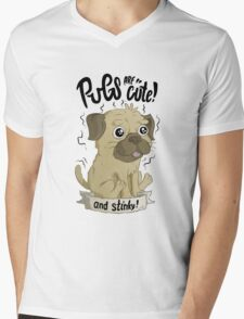 Pugs are cute Mens V-Neck T-Shirt