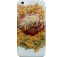 Tricolor Farfalle With Tomato Sauce iPhone Case/Skin