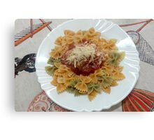 Tricolor Farfalle With Tomato Sauce Canvas Print