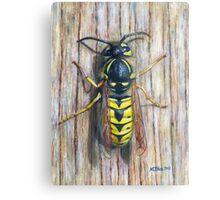 Acrylic painting, Wasp nature art Metal Print
