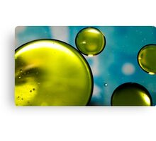 Green and Blue Macro Canvas Print