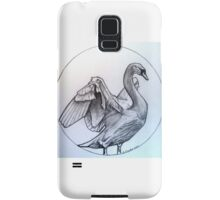 swan drawing Samsung Galaxy Case/Skin