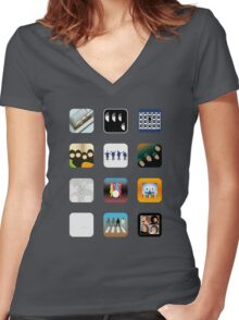 Now Apps What I Call Beatles Women's Fitted V-Neck T-Shirt