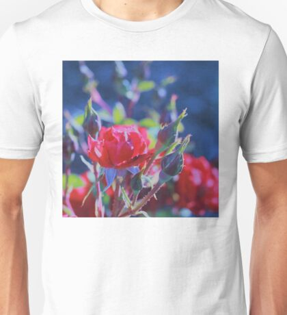 Red Roses at Dusk #5 Unisex T-Shirt