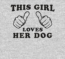 This Girl Loves Her Dog, Black Ink | Women's Dog Lover T Shirt, Sweatshirt T-Shirt