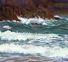 South Devon Seascape by Marion Yeo