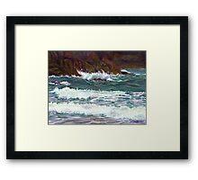 South Devon Seascape Framed Print