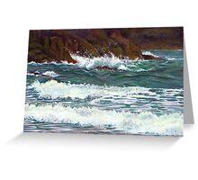 South Devon Seascape Greeting Card