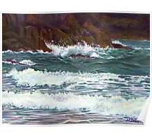 South Devon Seascape Poster