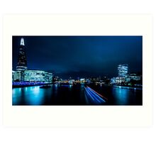 Nightscape - Blue is the Colour Art Print