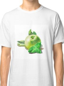 Green Apple And Mint Leaves Classic T-Shirt