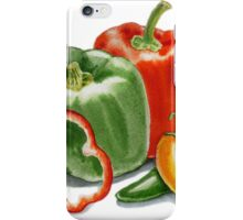 Bell Peppers And Jalapeno  iPhone Case/Skin