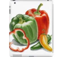 Bell Peppers And Jalapeno  iPad Case/Skin
