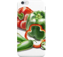 Bell Peppers With Jalapeno  iPhone Case/Skin
