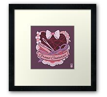 Grand Couturier Emblem - Dark BG Framed Print