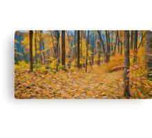 Golden Fall Colours Canvas Print