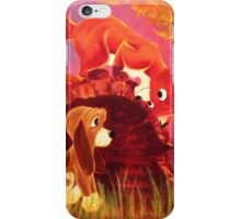 Fox and the Hound Painting iPhone Case/Skin