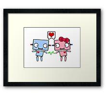 Robots in Love Framed Print