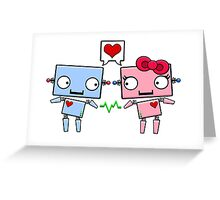 Robots in Love Greeting Card