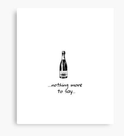 Champagne - party - bubbles Canvas Print