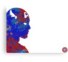 "A Splash of Heroism: ""Captain America"" Canvas Print"
