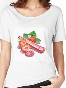 Rhubarb Strawberry Women's Relaxed Fit T-Shirt