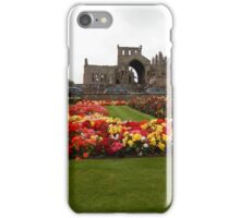 View of the Abbey Gardens, Melrose iPhone Case/Skin