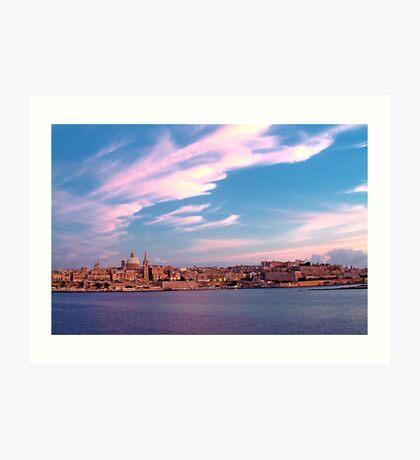 Sunset On Valletta Art Print