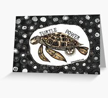 Steampunk turtle Greeting Card