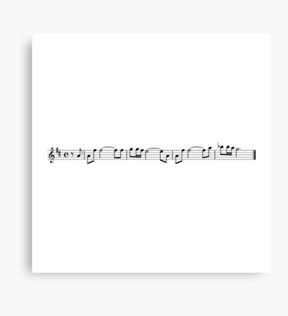 leia's theme (carrie fisher tribute) - white Canvas Print