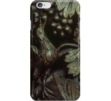 Bird eating grapes St Mary's church Madley England 19840517 0081  iPhone Case/Skin