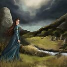 Wind through the stones - celtic lady by Nicole Cadet